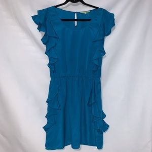 Teal Ruffled Dress by Gianni Bini. Size Large